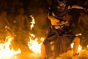 kecak dance performance